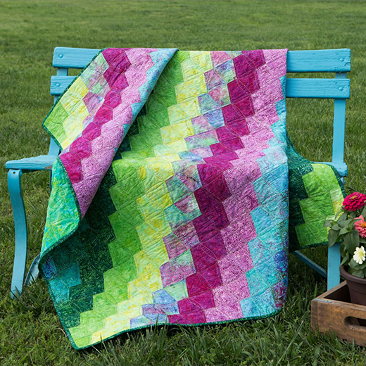 Summer Fields Quilt Free Pattern designed by Accuquilt