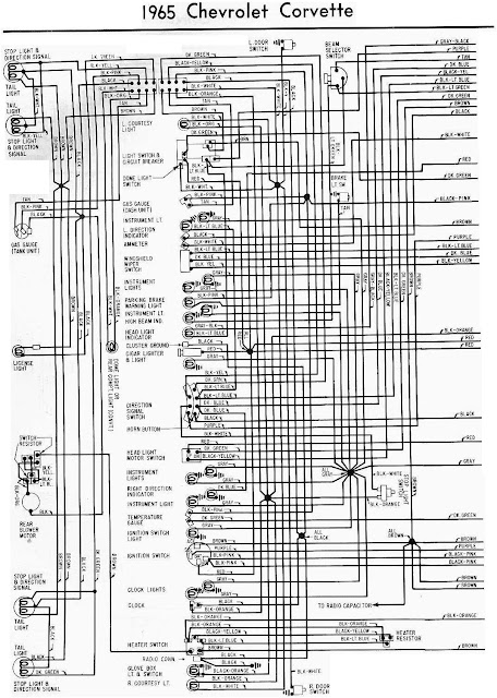 1965 Chevrolet Corvette Wiring Diagram | All about Wiring