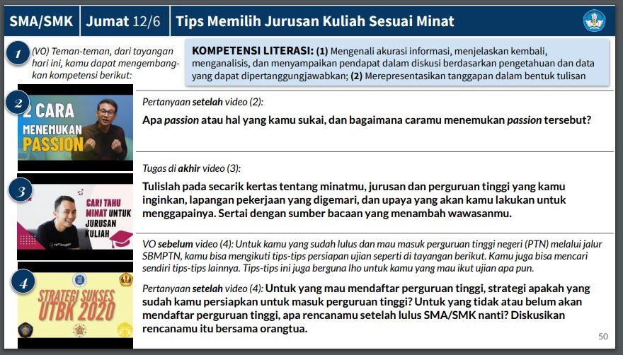 Soal dan Jawaban TVRI 12 Juni 2020 untuk SMA/SMK