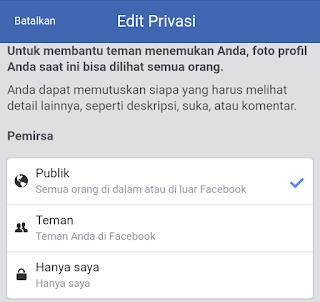 edit privasi fb
