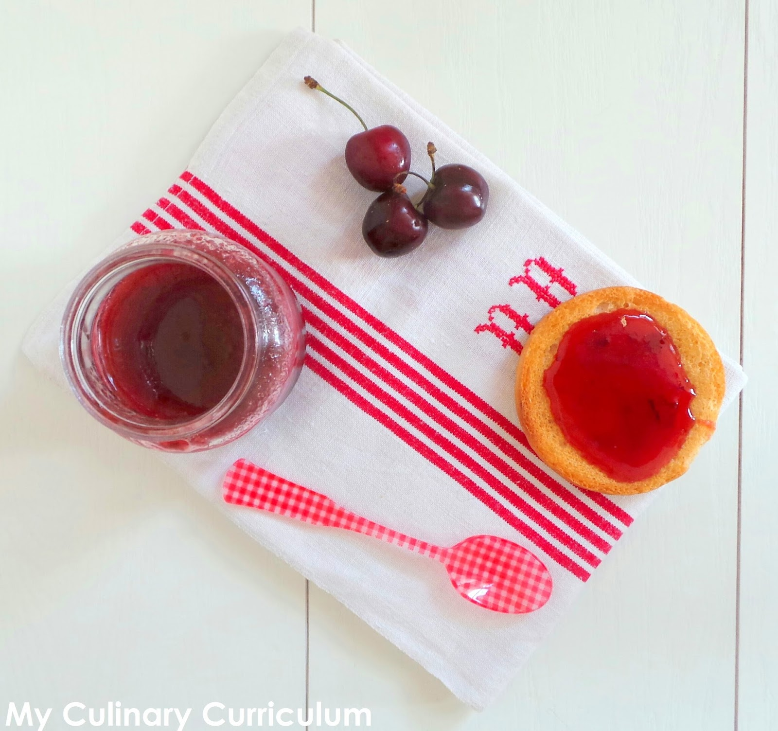 my culinary curriculum  confiture de cerises au cook expert ou pas  cherries jam