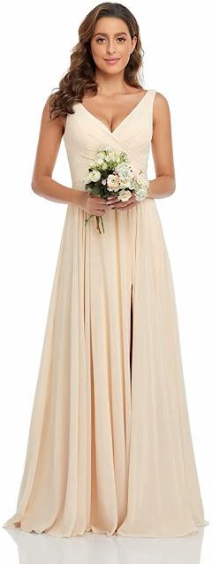 Good Quality Chiffon Bridesmaid Dresses For Beach Wedding