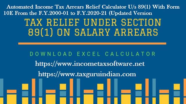 Income Tax Arrears Relief Calculator