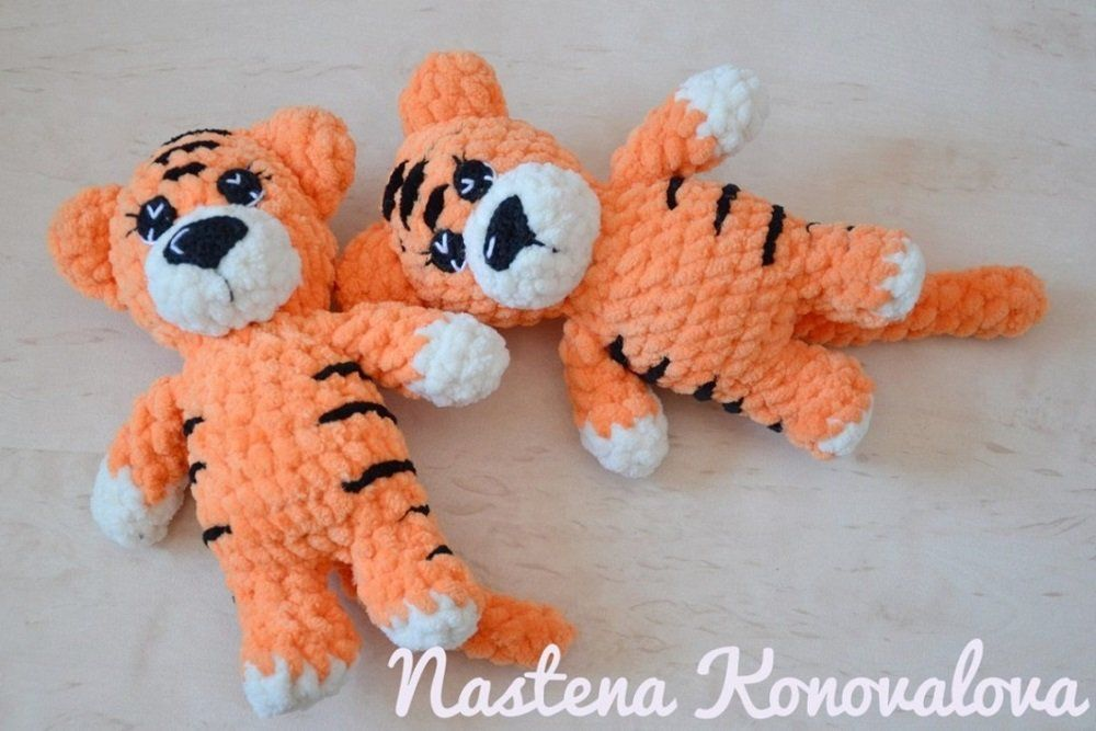 Crochet toy tiger amigurumi