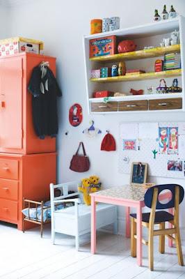 ondeugendespruit oranje kinderkamer