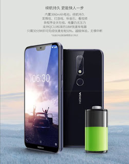 Nokia X6 3060 mAh Battery with support for QuickCharge 3.0