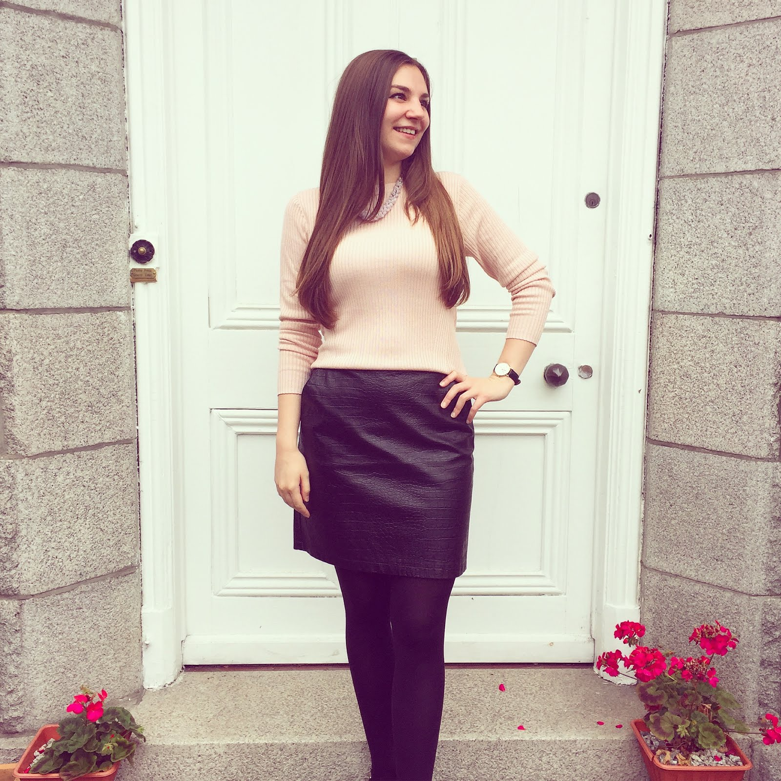pink and black skirt of the day electric