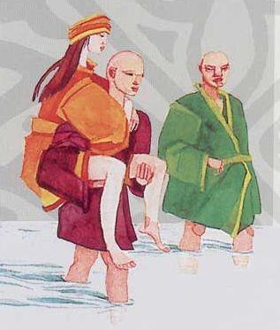 Dos monjes, una mujer atractiva y el voto de castidad
