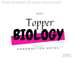 [PDF] Toppers Handwritten Notes For NEET Best Notes BY NEET TOPPERS