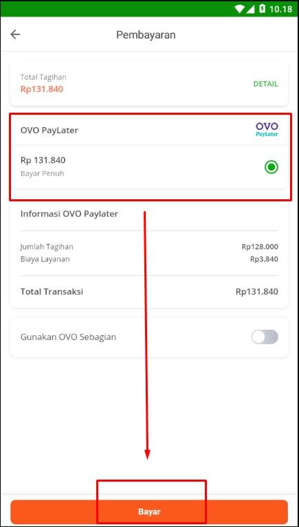 Menentukan Tenor Cicilan Metode Pembayaran OVO PayLater di Tokopedia.