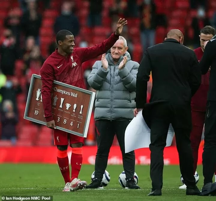 Liverpool star Wijnaldum admits he fought back tears in final game for the club