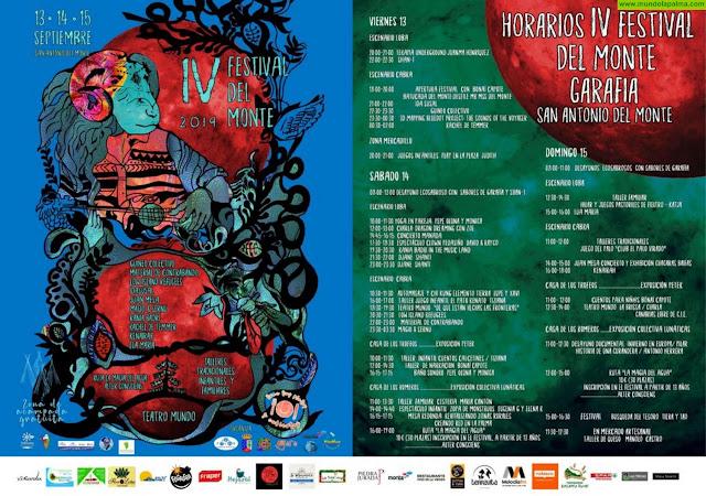 Programa Festival del Monte 2019 La Palma - Garafía