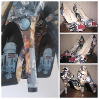 Star wars heels, james r5d4, decopage