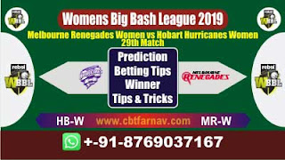 WBBL 2019 MRW vs HBW 29th Match Prediction Today Womens Big Bash League 2019