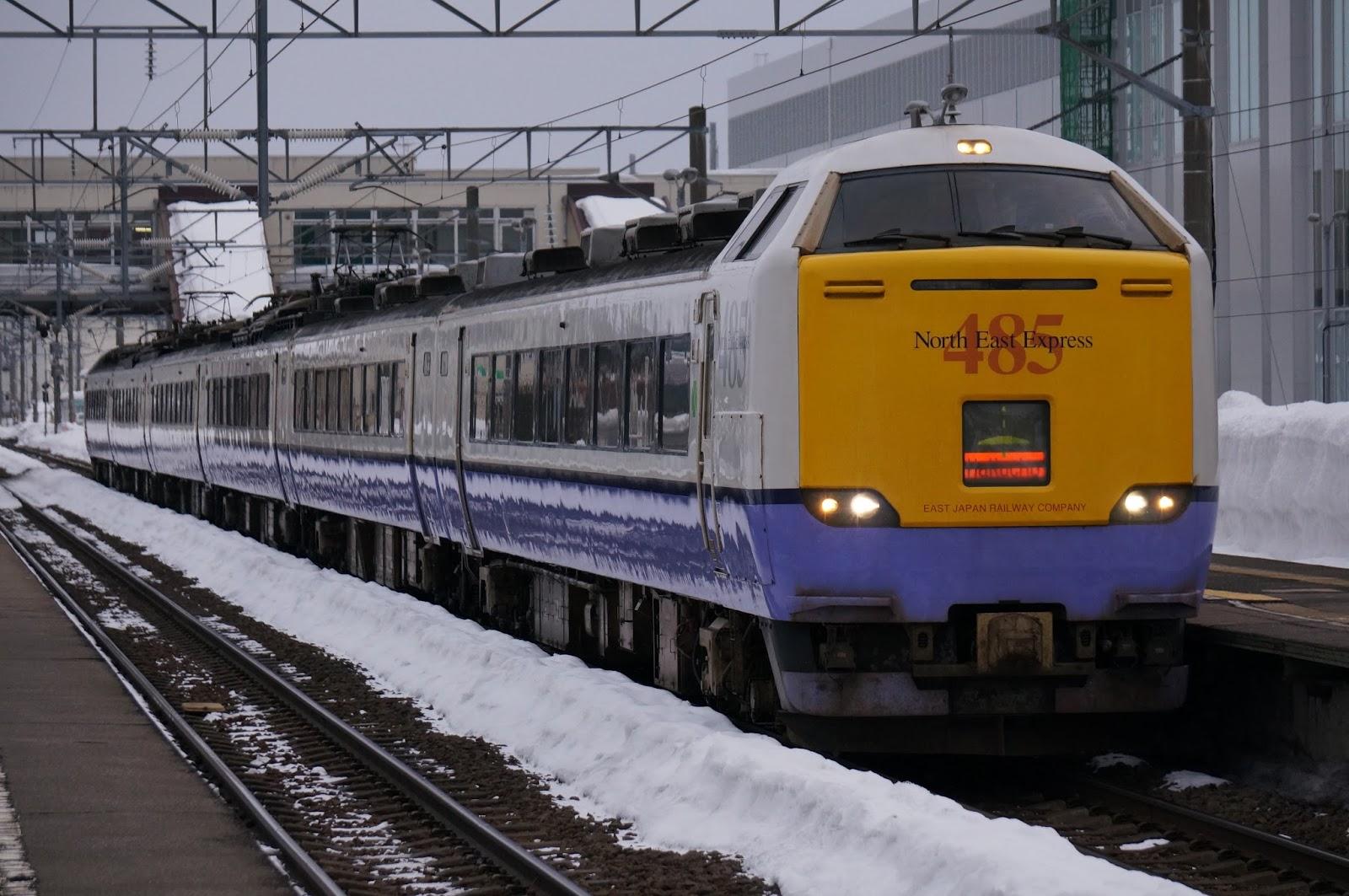 木古内駅停車中の485系3000番台