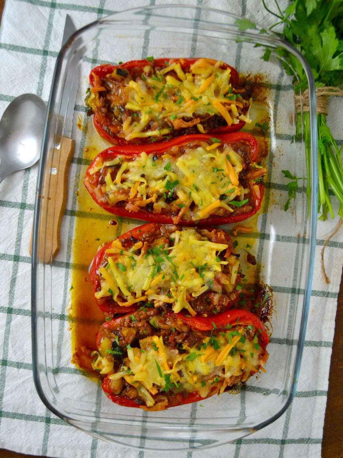 Pimientos rellenos de carne picada cuuking recetas de cocina - Salsa para relleno de carne ...