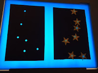 star activity on light table
