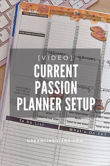 Current Passion Planner Setup