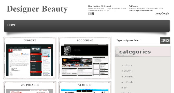 Web DESIGN Blogspot Theme