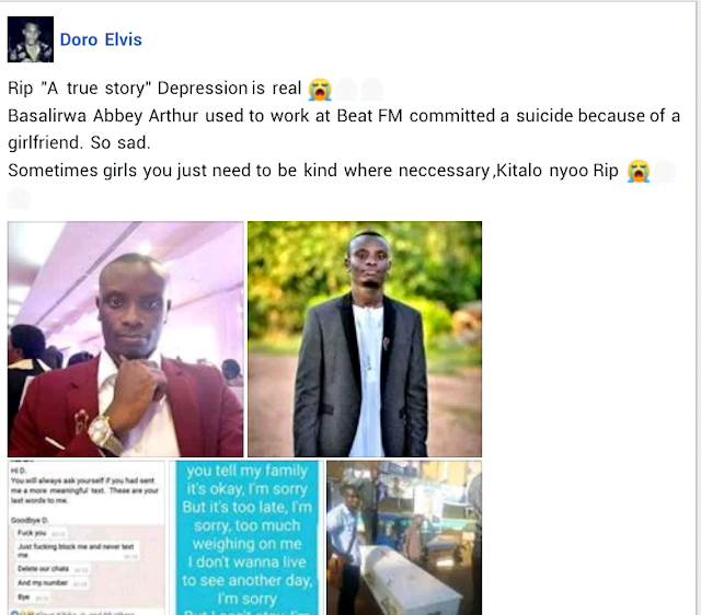 Man dumped by his fiancee ends his life after posting suicide notes on Facebook and WhatsApp