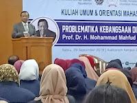 Mahfud MD Ajak Maba Pascasarjana  UAD Kuatkan Ideologi Pancasila