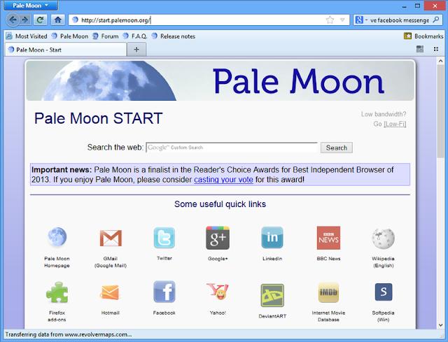 متصفح pale moon 27.8.0 أخر اصدار النسخة الاصلية