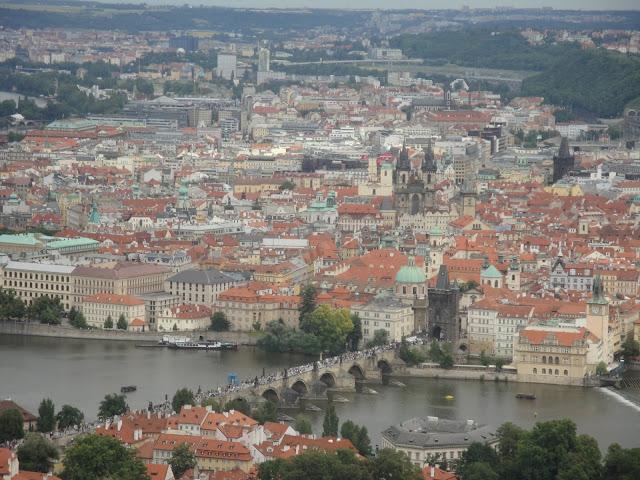 Praga vista do alto - República Tcheca - Cidade Medieval