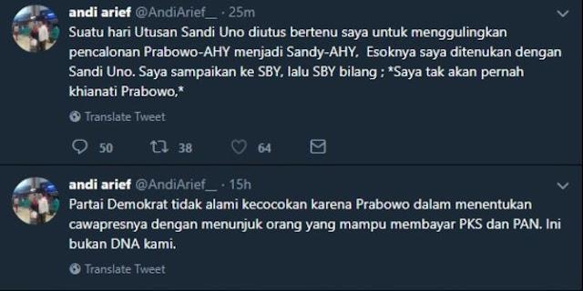 Andi Arief tak penuhi panggilan Bawaslu soal cuitan mahar Sandiaga Rp 500 miliar