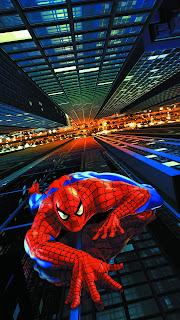Spiderman Climbing Mobile HD Wallpaper