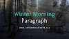 Short Winter Morning Paragraph Updated in 2020 | EEB