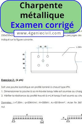 exercices corrigés charpente métallique pdf