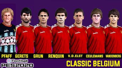 PES 2020 Classic Facepack Belgium by Andri Mod
