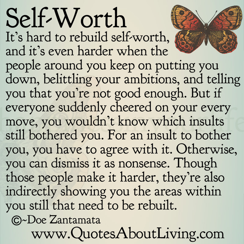 Quotes About Living Doe Zantamata Self Worth Rebuilding Guides