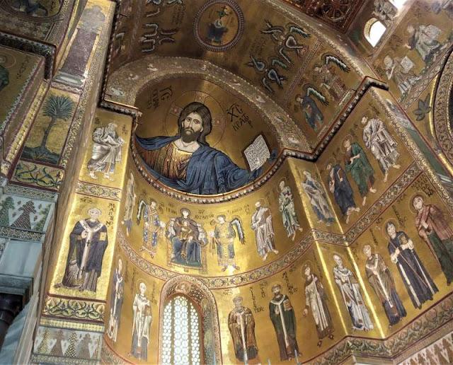 mosaico cristo pantocratore nel duomo