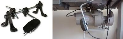 Todas las máquinas de coser industriales utilizan rodillera.