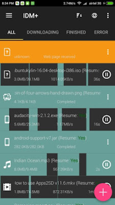 IDM+: Fastest download manager للأندرويد