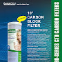 "PurePro® USA 10"" Carbon Block Filter - CTO Filter - PurePro CTO-102505"