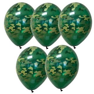 воздушные шарики  хаки
