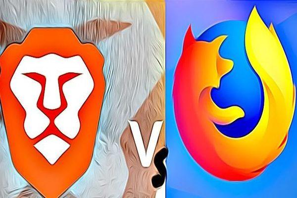 مقارنة بين متصفحي Firefox و Brave