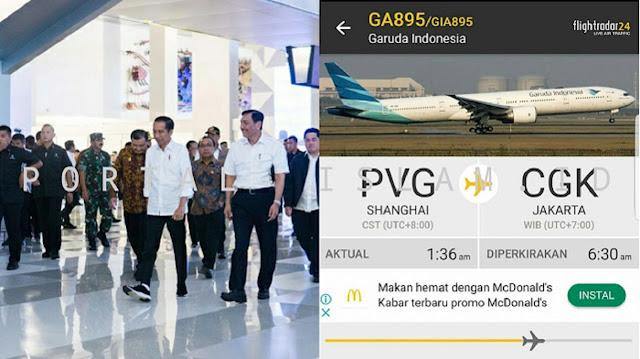 WADUH! Ternyata Penerbangan Internasional tidak Dilarang Pemerintah, Warganet UNGKAP Penerbangan Shanghai-JKT Terus Beroperasi