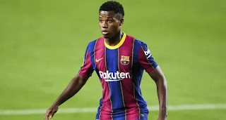 Ansu Fati 'ruled out of Barcelona -PSG clash' due to recurring knee problems