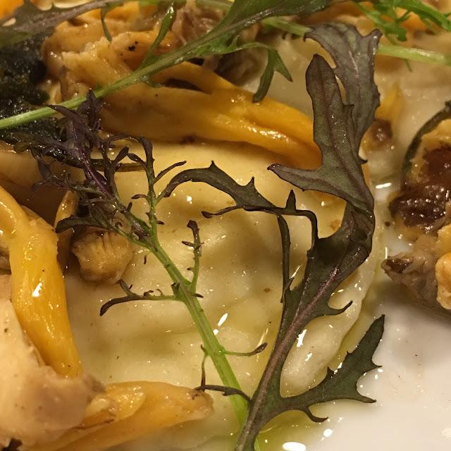 Celeriac Ravioli starter for Winter Feast at River Cottage