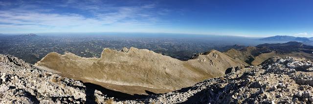 Monte Camicia: panorama verso nord