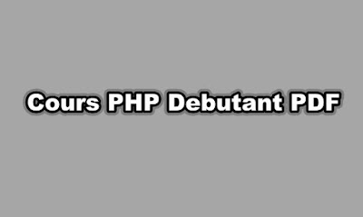 Cours PHP Debutant PDF