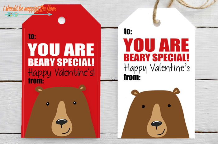 Beary Special Printables for Valentines