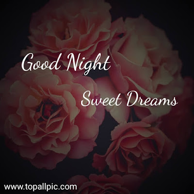 good night sweet dreams images with rose