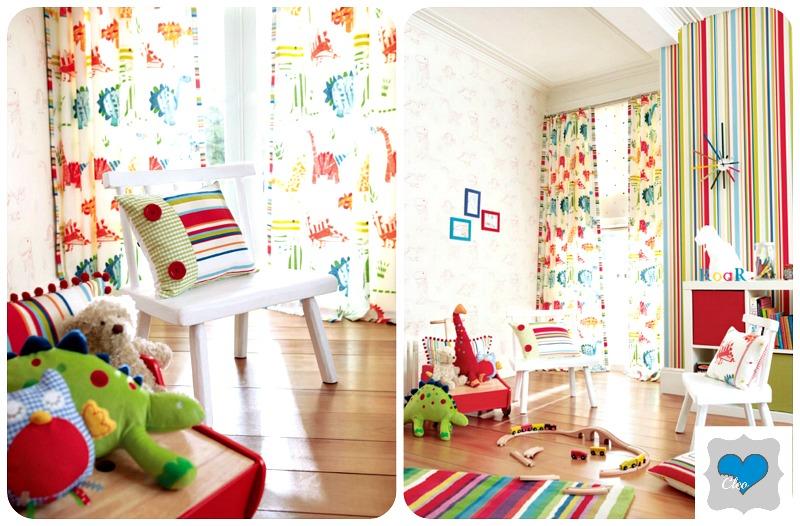 dinozary w pokoju dziecka
