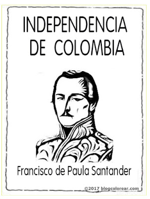 Francisco de Paula Santander colorear