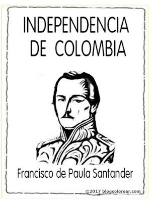 Francisco de Paula Santander colorear