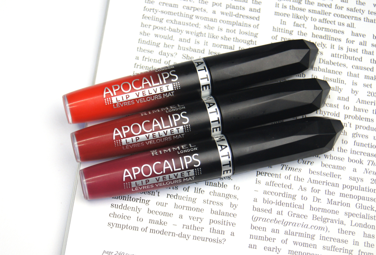 rimmel apocalips matte lip velvets review swatches